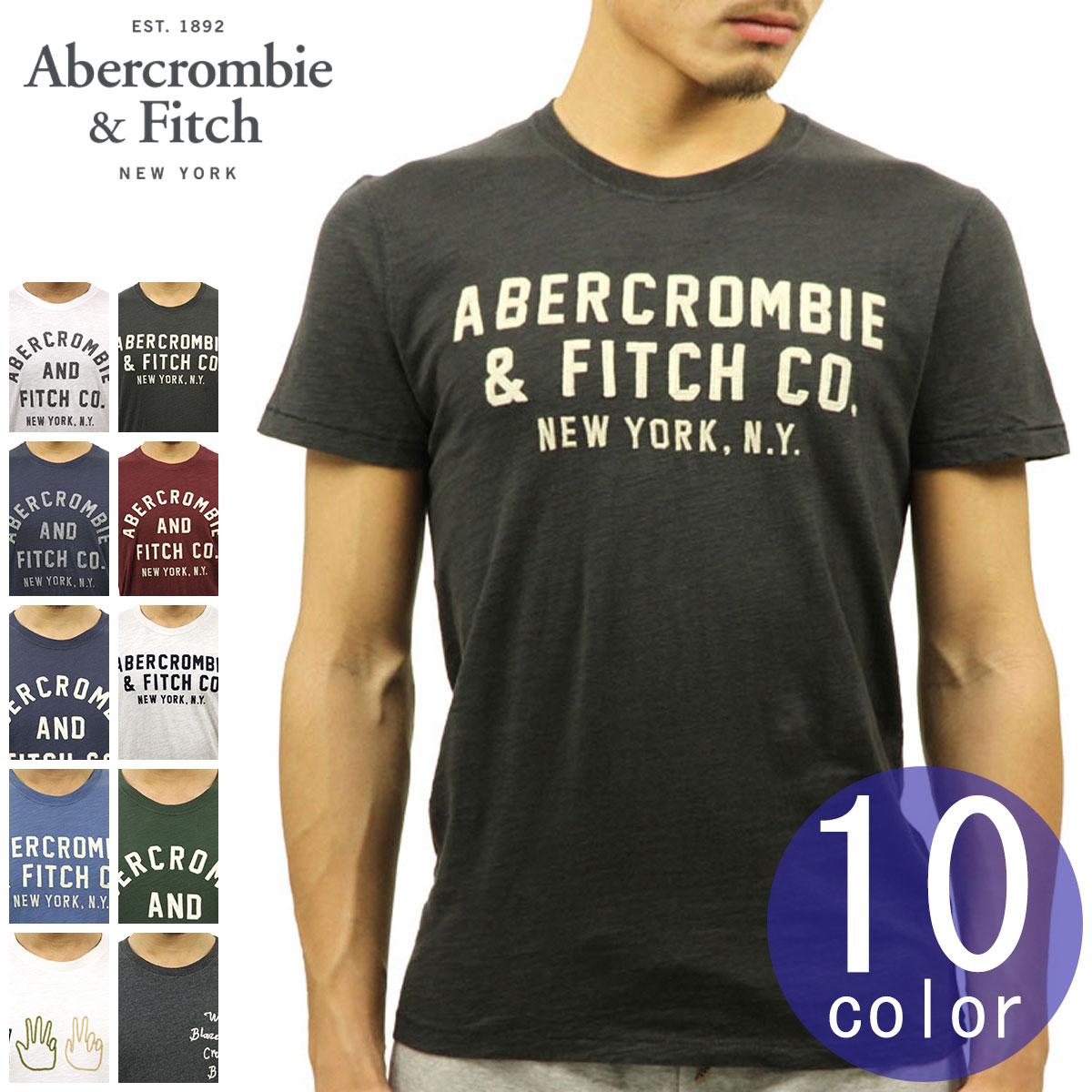 【ポイント10倍 1/1 00:00~1/5 23:59まで】 アバクロ Tシャツ 正規品 Abercrombie&Fitch 半袖Tシャツ クルーネック TEE