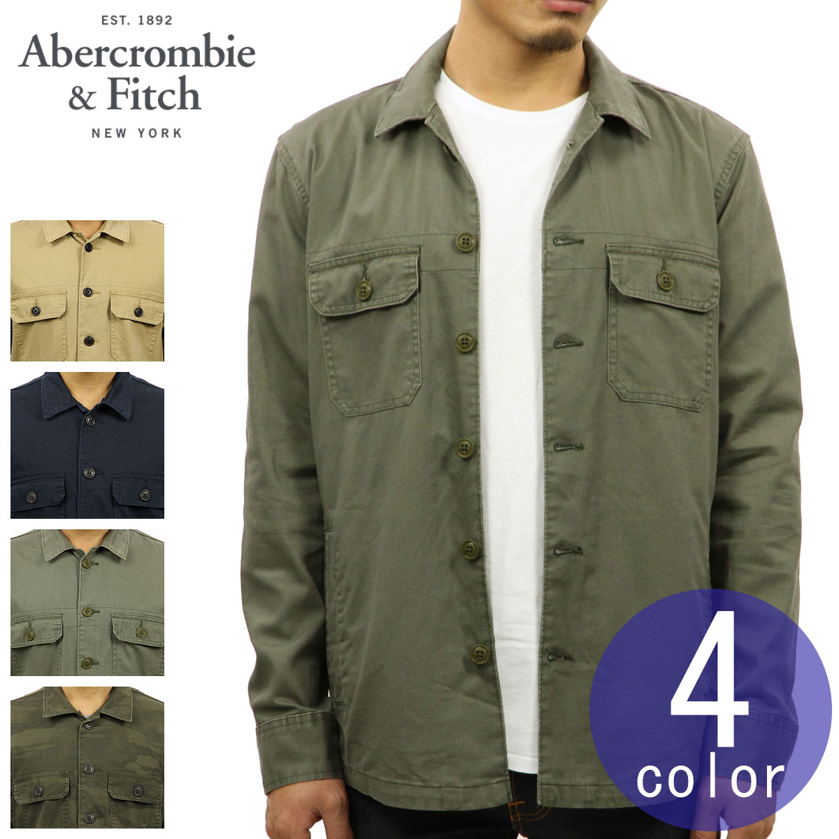df8fec93840a8 Categories. « All Categories · Men's Clothing · Coats & Jackets · ABBA  black Abercrombie & Fitch regular article men outer military shirt ...
