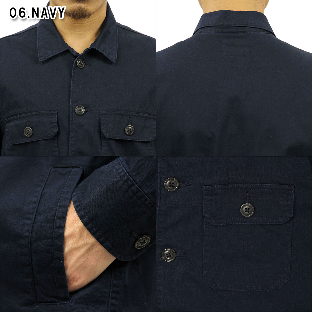 95a07979392cc ABBA black Abercrombie & Fitch regular article men outer military shirt  jacket MILITARY SHIRT JACKET