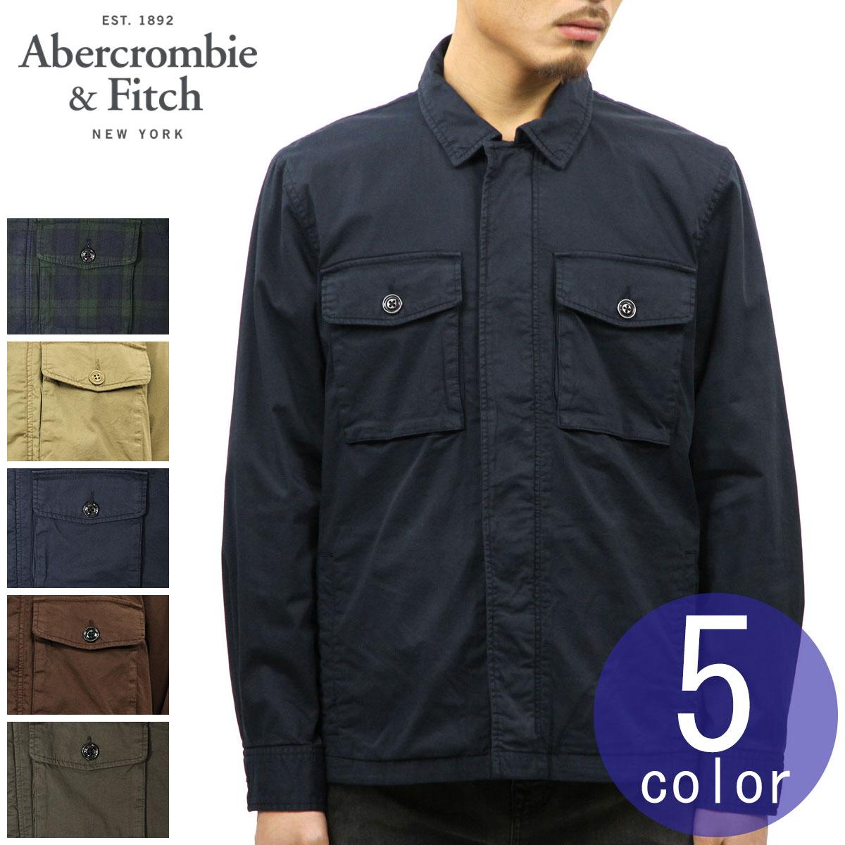 bce3c2183 ABBA black shirt men's regular article Abercrombie & Fitch long sleeves  shirt jacket ZIP-UP SHIRT JACKET