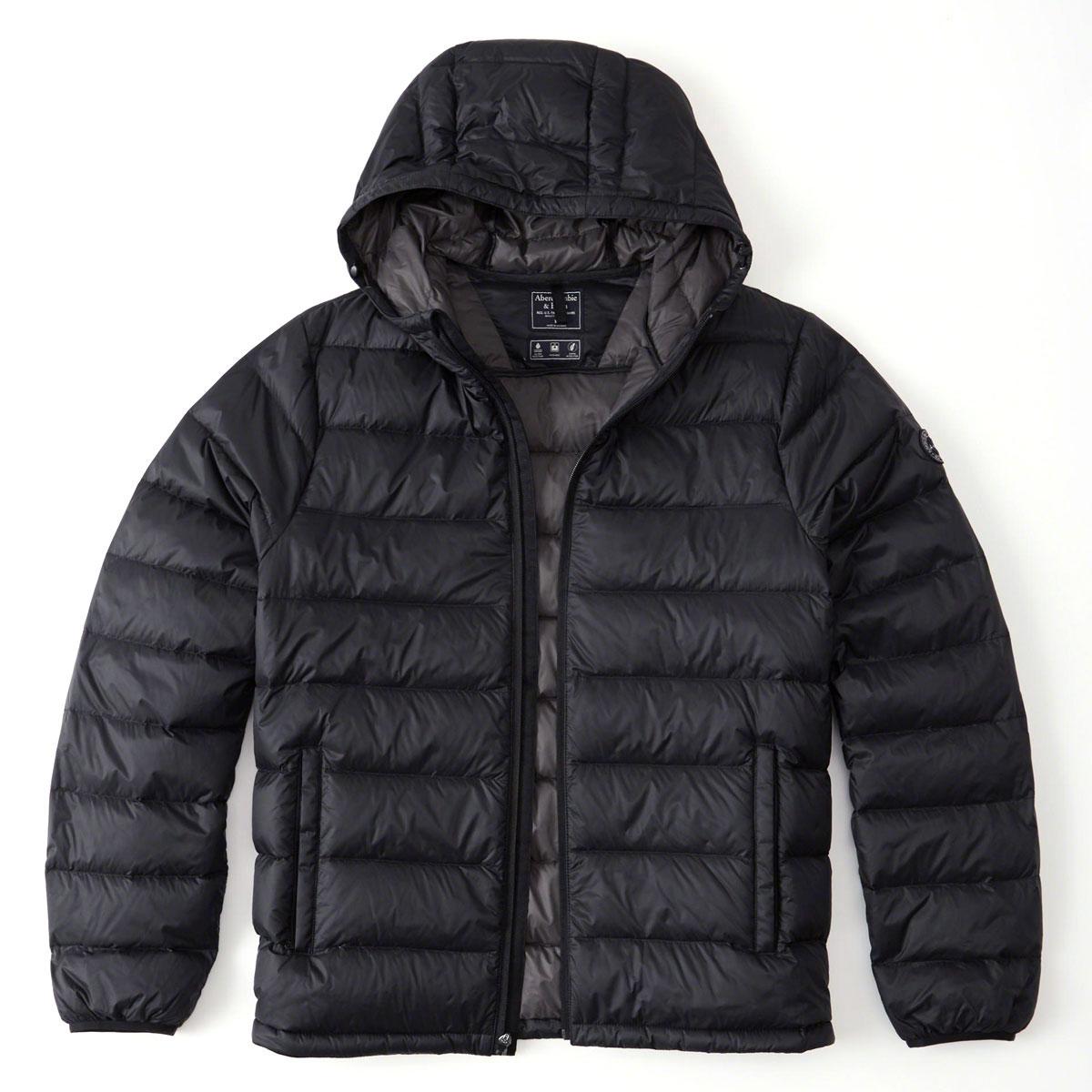 121cf5488 ABBA black outer men's regular article Abercrombie & Fitch jacket down  jacket LIGHTWEIGHT HOODED PUFFER JACKET 132-328-1245-200