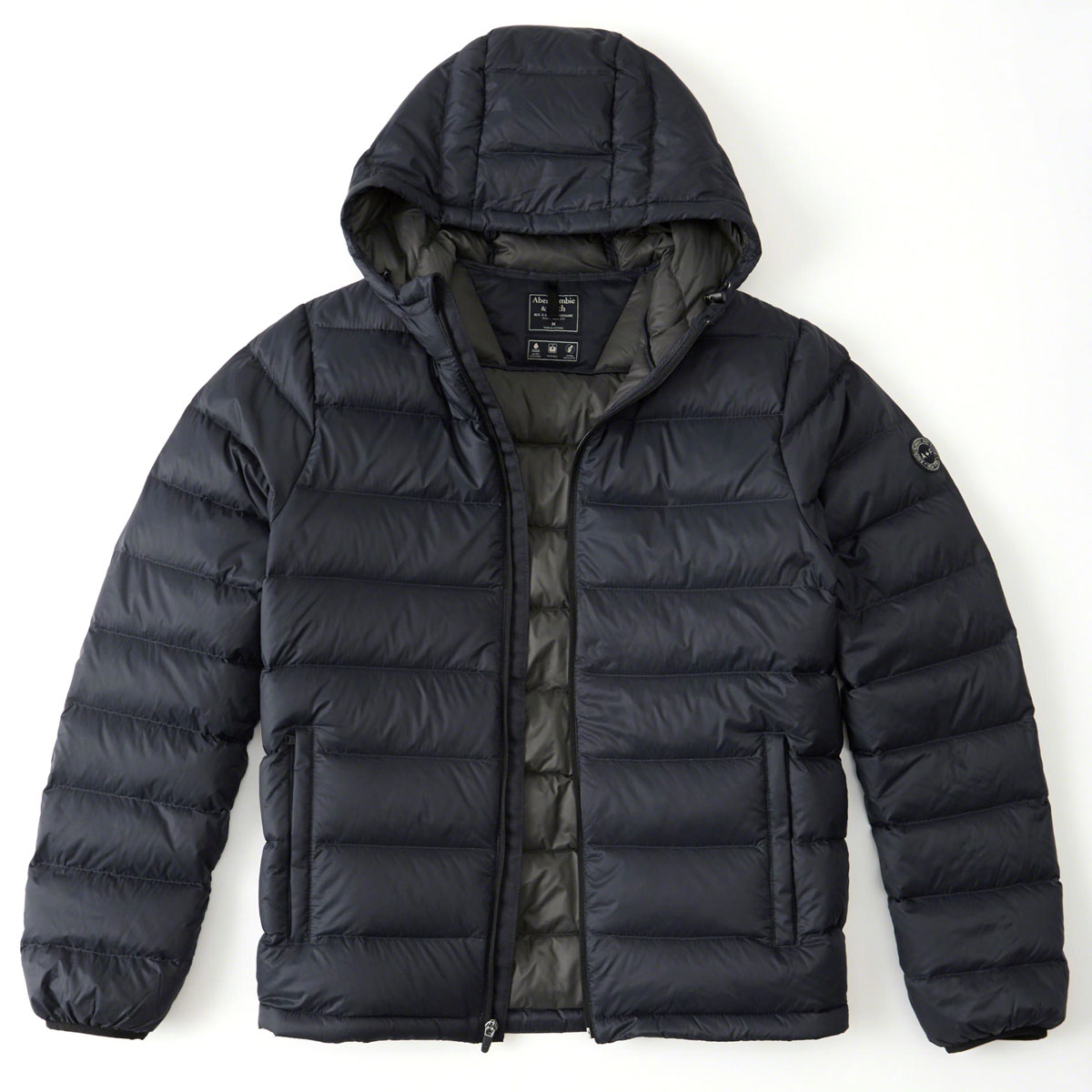 82ce7e253 ABBA black outer men's regular article Abercrombie & Fitch jacket down  jacket LIGHTWEIGHT HOODED PUFFER JACKET 132-328-1209-900