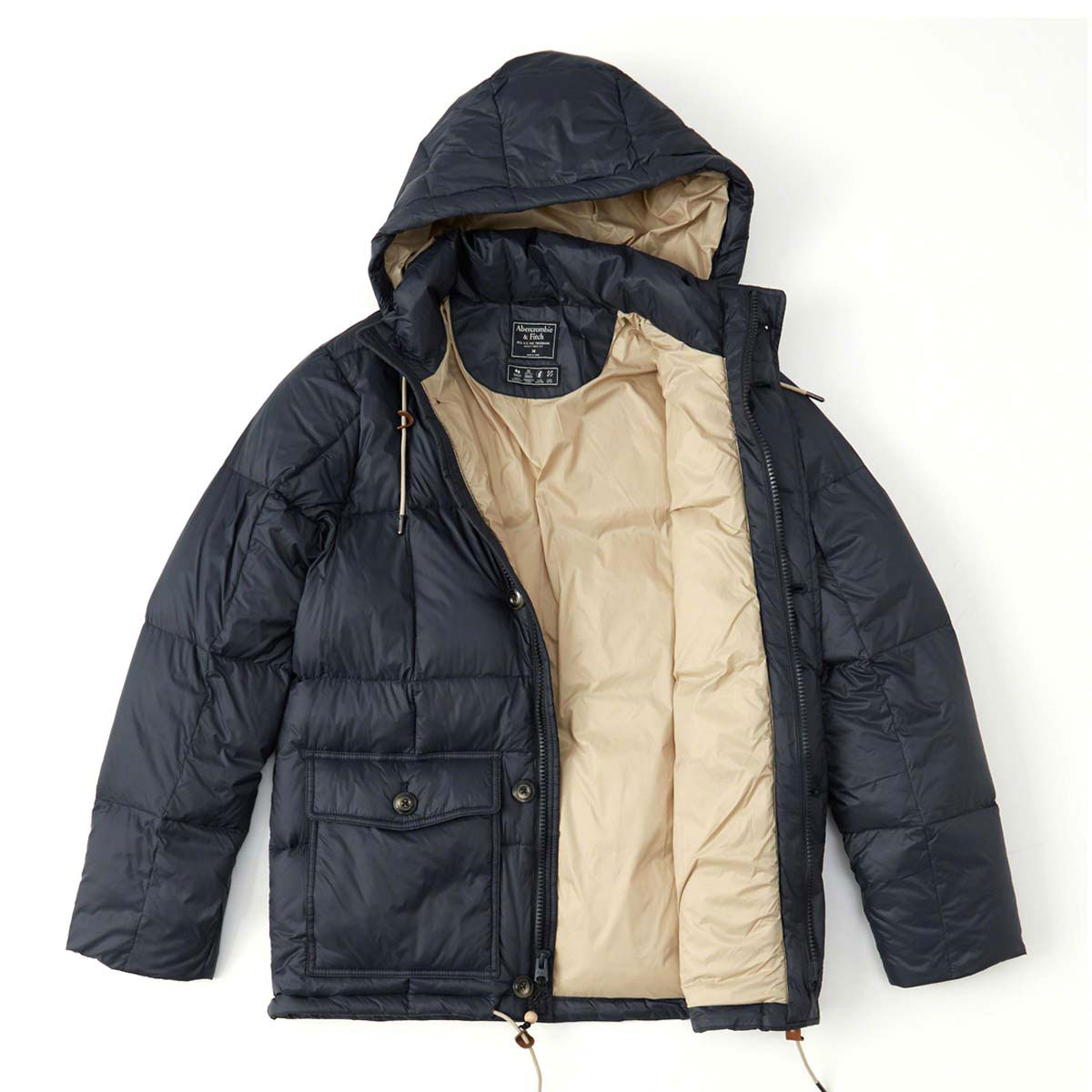 75f382fc7 ABBA black outer men's regular article Abercrombie & Fitch jacket down  jacket DOWN-FILLED PUFFER COAT 132-327-0407-200