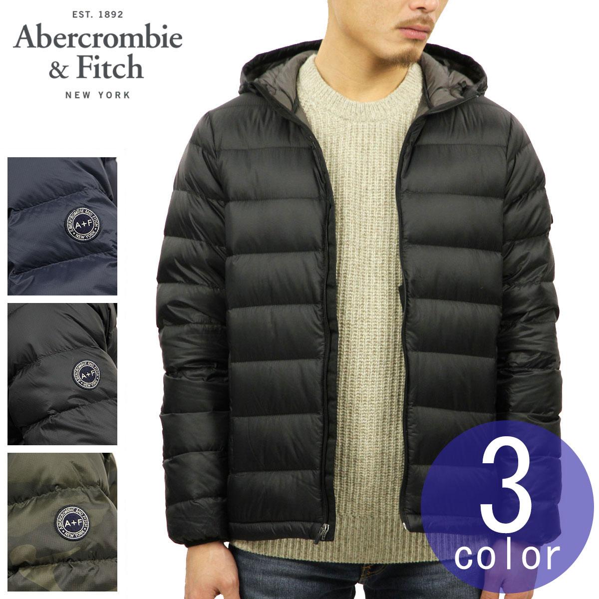 3c24dbd86 ABBA black outer men's regular article Abercrombie & Fitch jacket light  weight down jacket compact storing LIGHTWEIGHT HOODED PUFFER JACKET