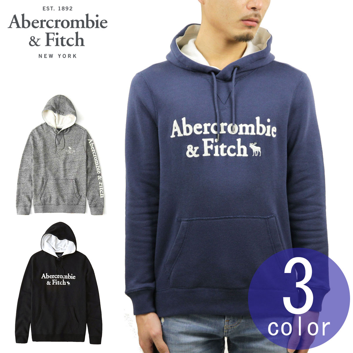 34de892544e Rakuten Ichiba shop MIXON  ABBA black Abercrombie  amp  Fitch regular  article men back raising applique pullover parka GRAPHIC APPLIQUE PULLOVER  HOODIE ...