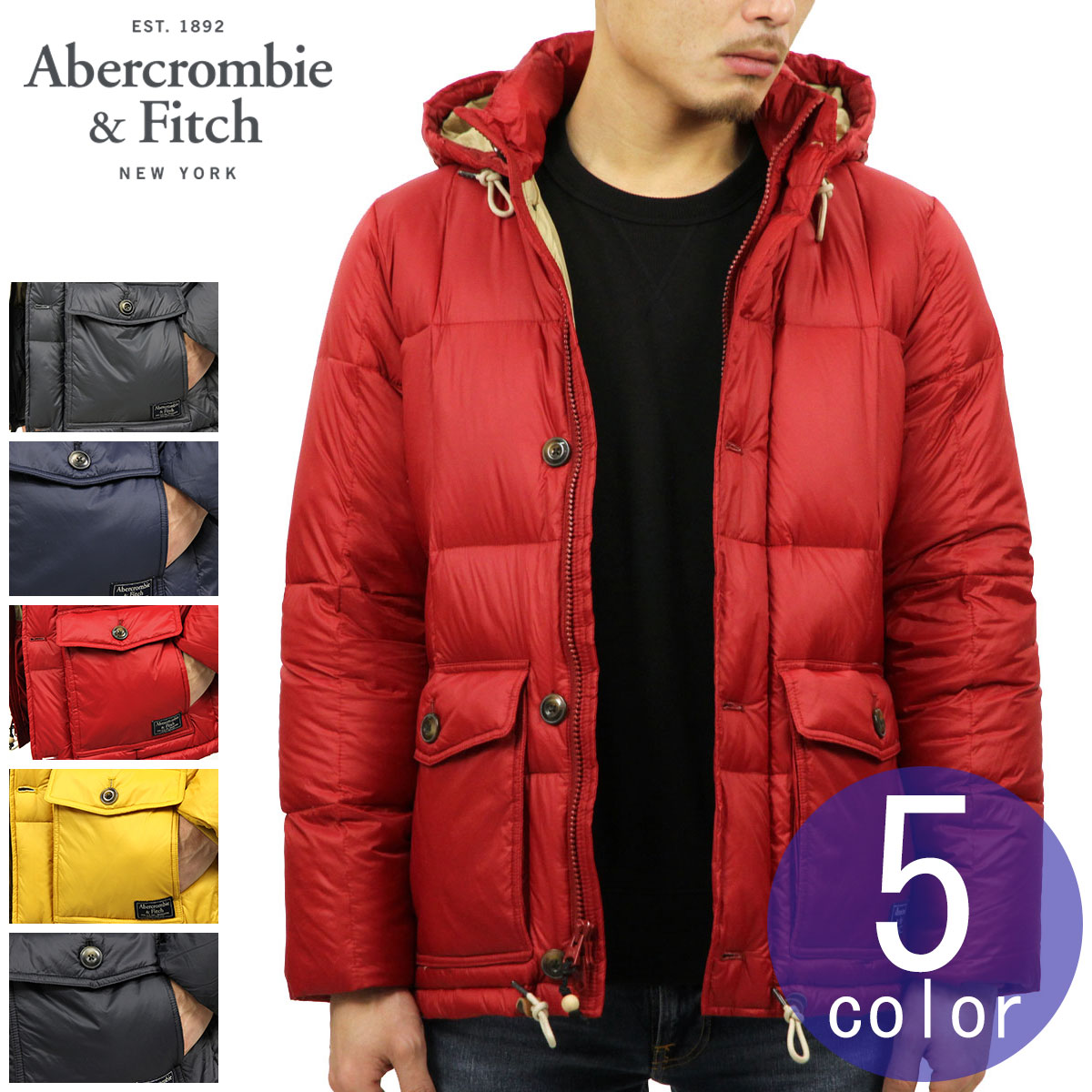 b20321687 Down jacket DOWN-FILLED PUFFER COAT with the ABBA black outer men's regular  article Abercrombie & Fitch jacket food