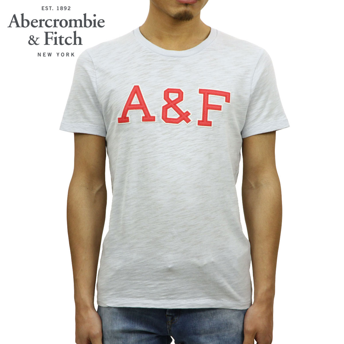 8392831e ABBA black Abercrombie & Fitch regular article men crew neck short  sleeves T-shirt ...