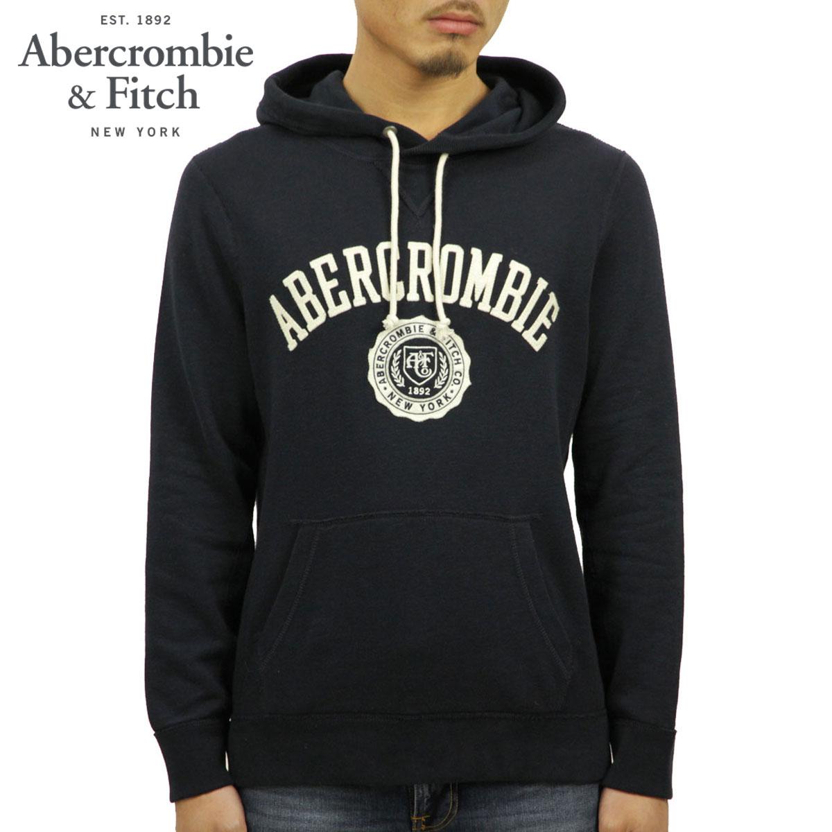 アバクロ Abercrombie&Fitch 正規品 メンズ プルオーバーパーカー APPLIQUE LOGO HOODIE 122-243-0021-200