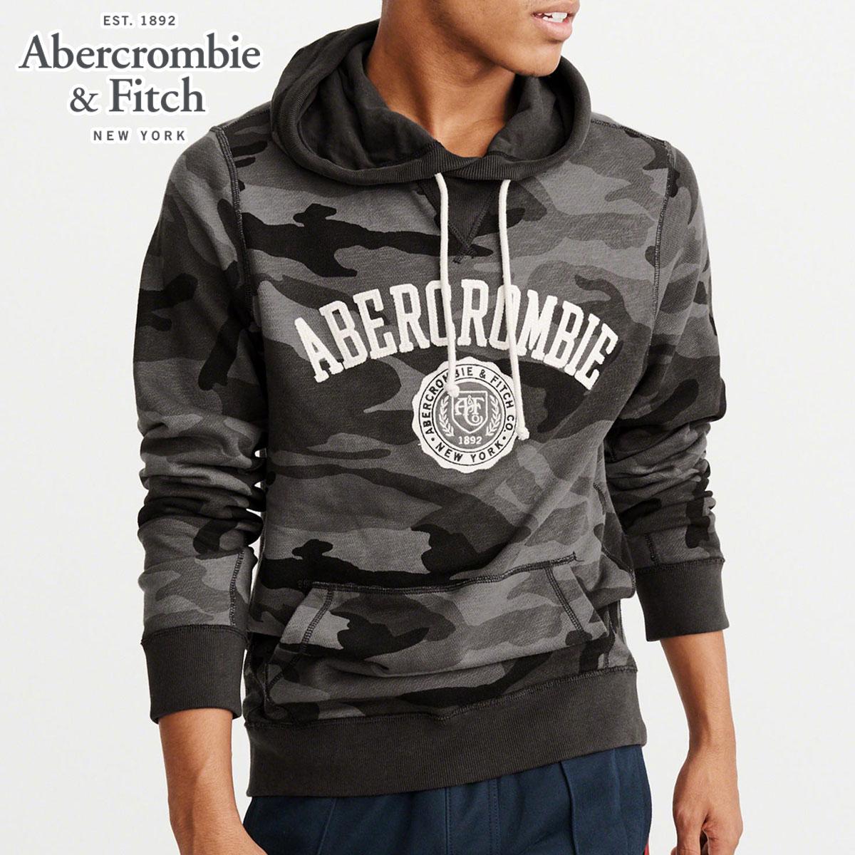 d937918577d ABBA black Abercrombie & Fitch regular article men pullover parka CAMO  LOGO HOODIE 122- ...