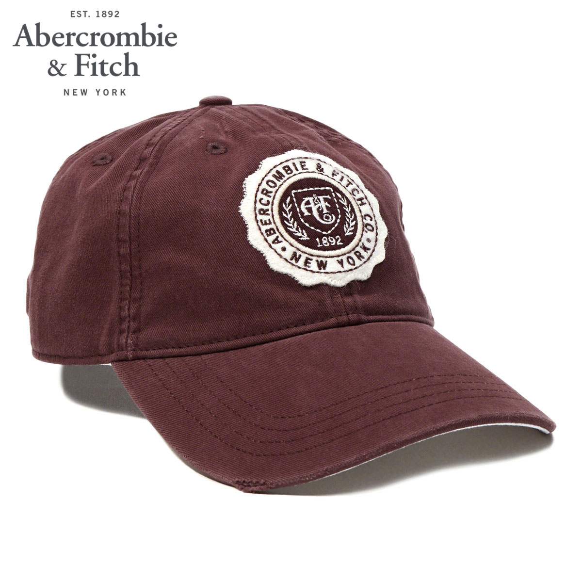 42600ba14d92d ABBA black Abercrombie   Fitch regular article men cap TWILL CREST CAP  112-178-0211-500