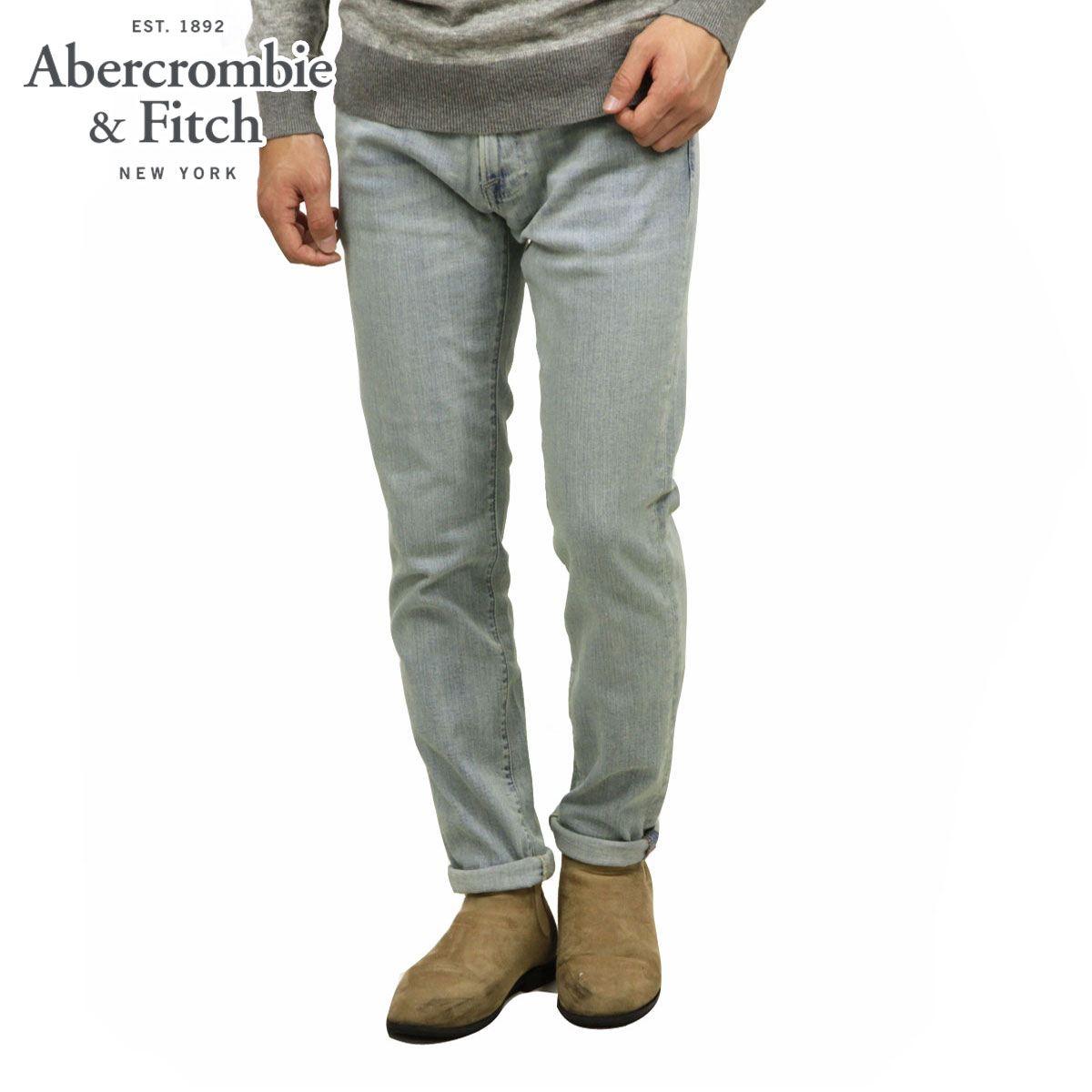 アバクロ Abercrombie&Fitch 正規品 メンズ スキニージーンズ SKINNY JEANS 131-318-1276-280