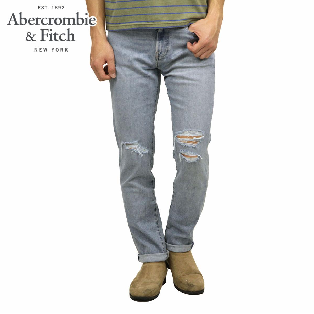 アバクロ Abercrombie&Fitch 正規品 メンズ スキニージーンズ RIPPED ATHLETIC SKINNY JEANS 131-318-1280-281