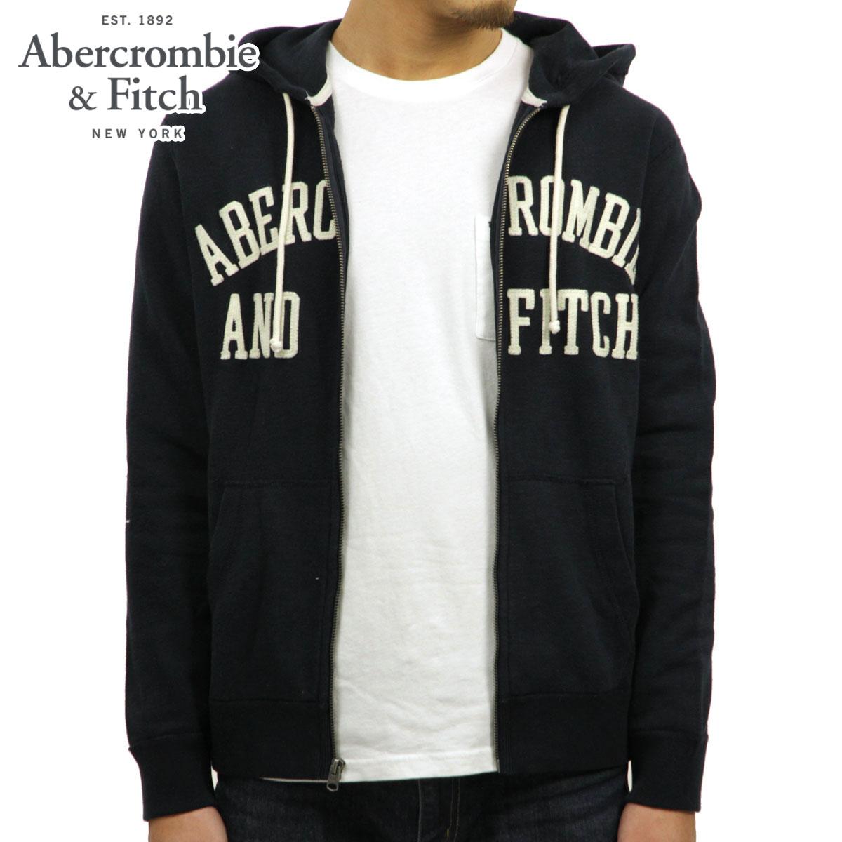 アバクロ Abercrombie&Fitch 正規品 メンズ ジップアップパーカー GRAPHIC FULL-ZIP HOODIE 122-243-0014-200
