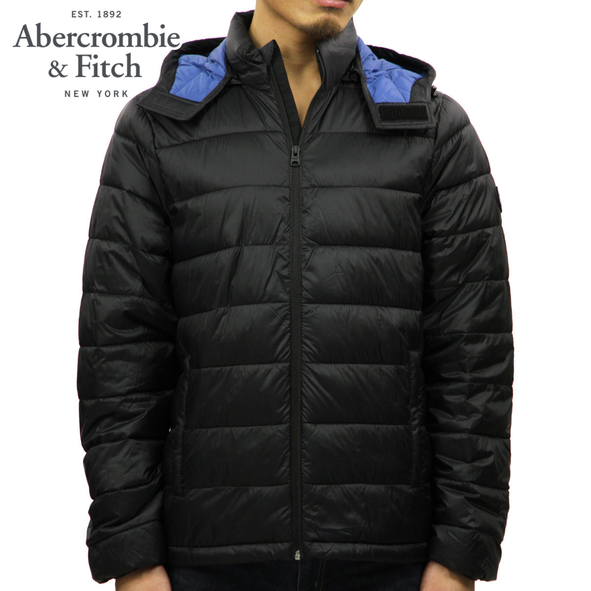 アバクロ Abercrombie&Fitch 正規品 メンズ アウター パファージャケット LIGHTWEIGHT REMOVABLE HOOD PACKABLE PUFFER
