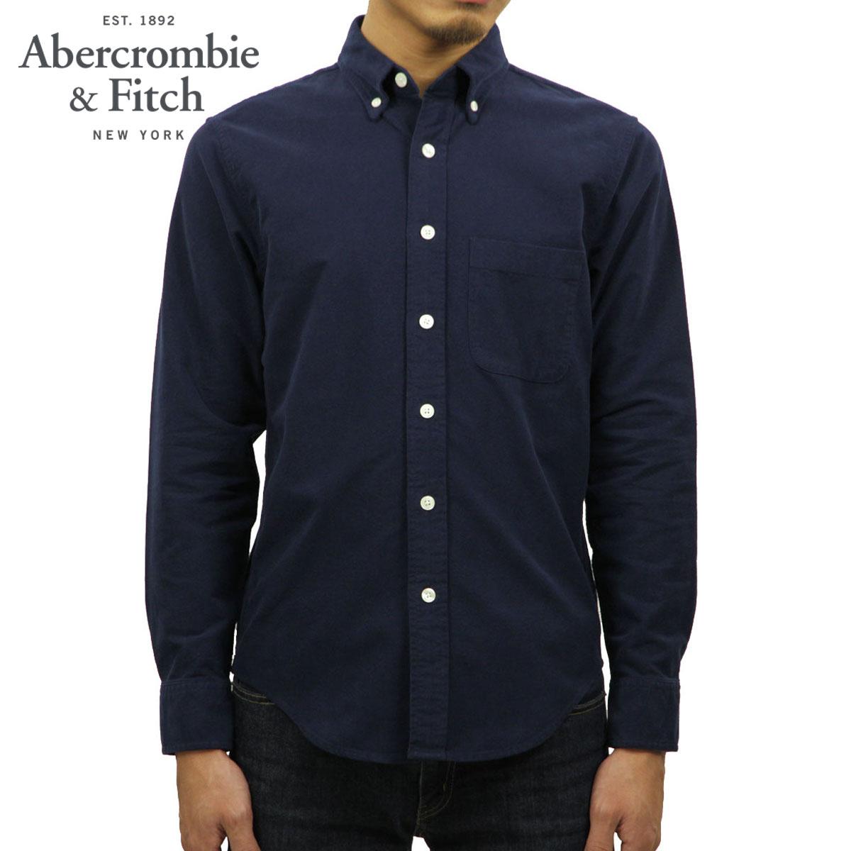 アバクロ シャツ メンズ 正規品 Abercrombie&Fitch 長袖シャツ ボタンダウンシャツ OXFORD SHIRT 125-168-2861-201