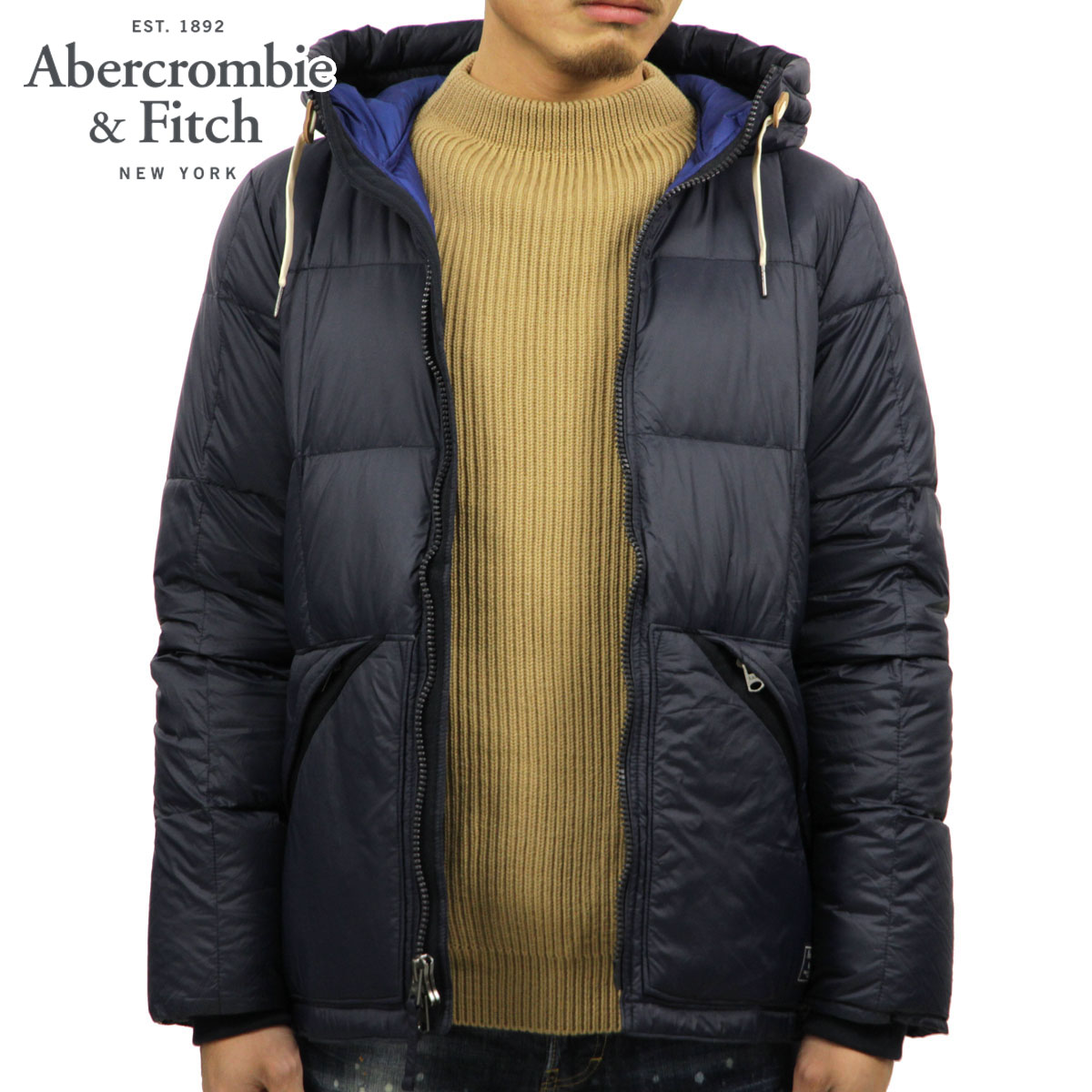 90965cf3c ABBA black outer men's regular article Abercrombie & Fitch jacket down  jacket ULTRA PUFFER 132-327-0519-200