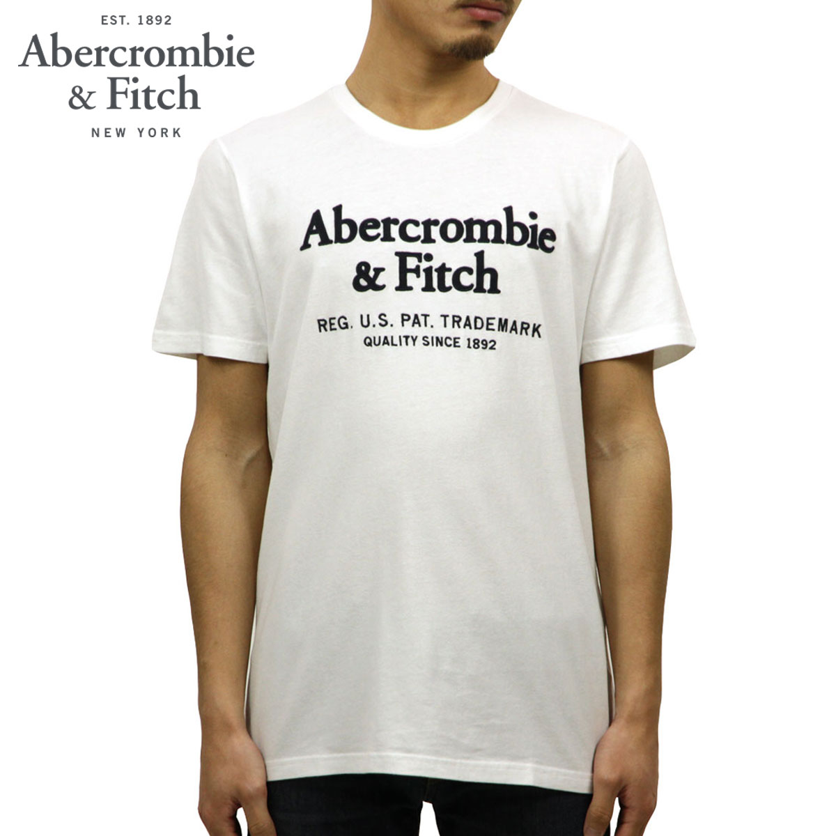 6c901f6d Categories. « All Categories · Men's Clothing · Tops · T-shirts & Tank Tops  · ABBA black Abercrombie & Fitch regular article men crew neck logo  short ...