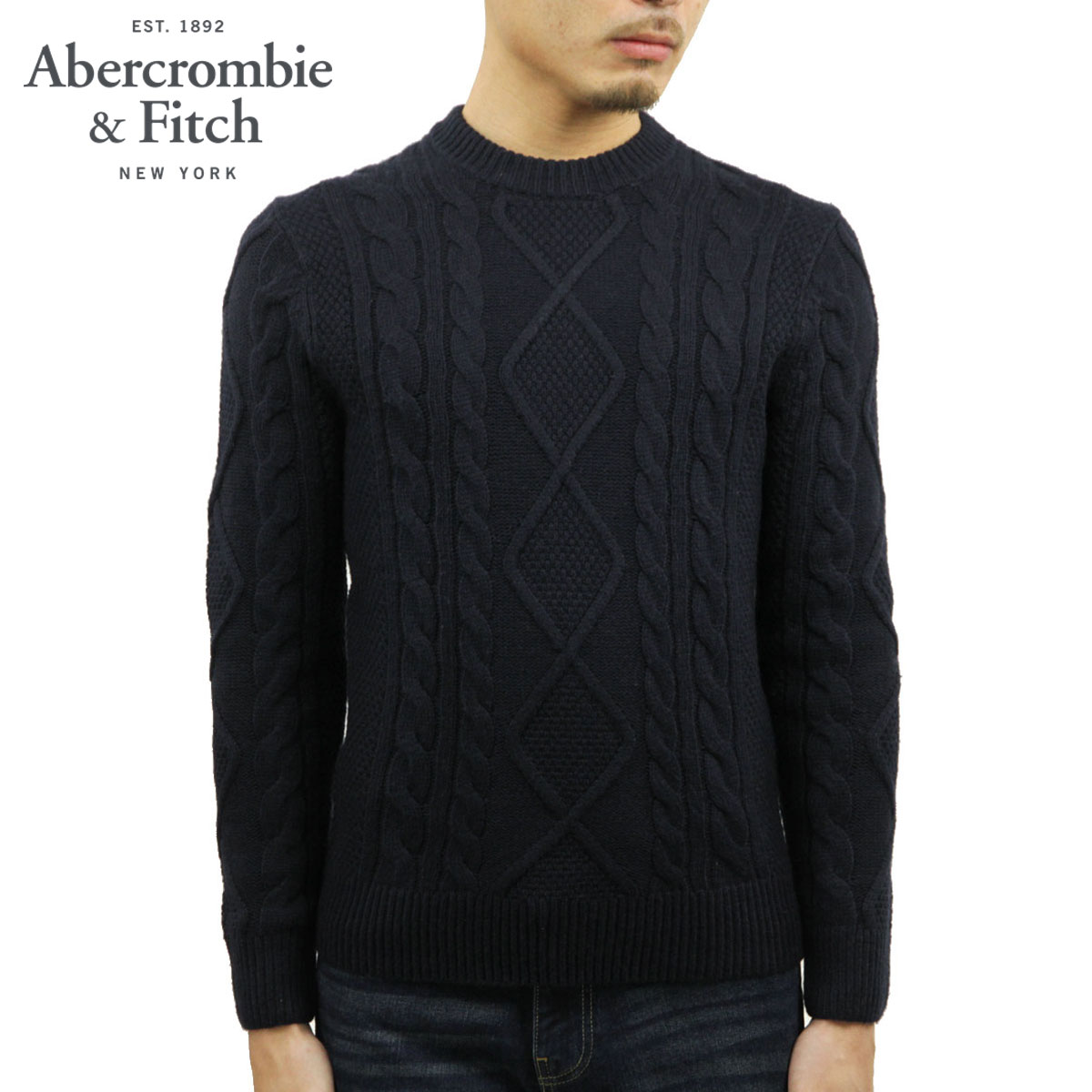アバクロ セーター メンズ 正規品 Abercrombie&Fitch クルーネックセーター CREWNECK SWEATER 120-201-1631-200