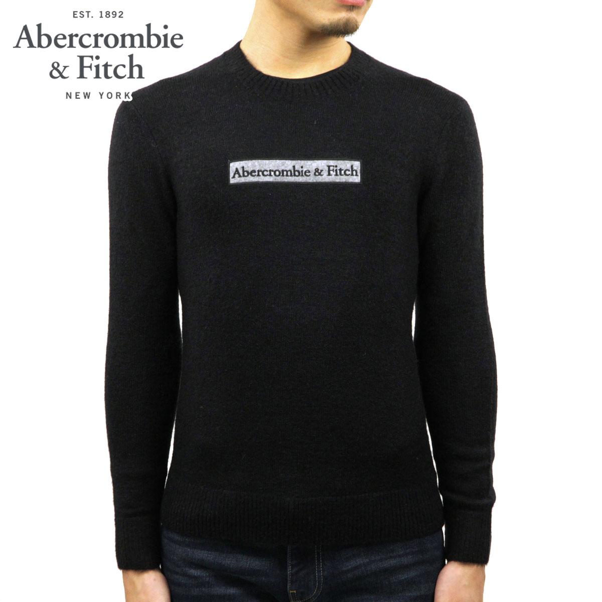 アバクロ セーター メンズ 正規品 Abercrombie&Fitch クルーネックセーター ロゴ LOGO SWEATER 120-201-1662-900