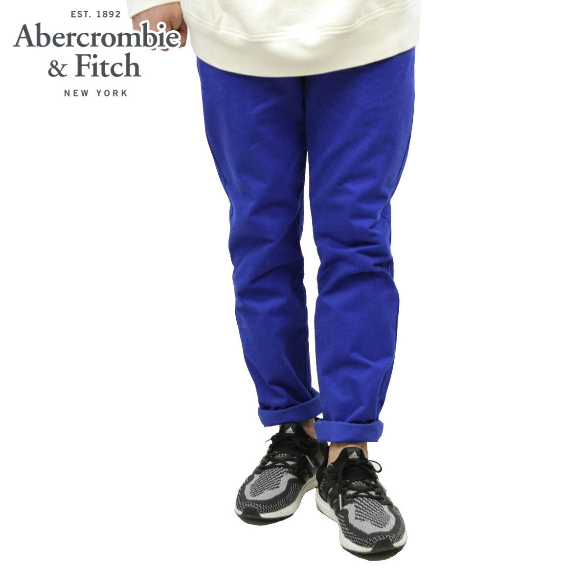 【ポイント10倍 1/1 00:00~1/5 23:59まで】 アバクロ チノパン メンズ 正規品 Abercrombie&Fitch スキニーチノパン ボトムス A&F SKINNY CHINOS BLUE