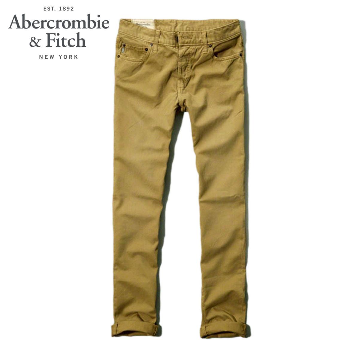 アバクロ Abercrombie&Fitch 正規品 メンズ チノパン A&F SKINNY PANTS 130-307-0168-045 D20S30