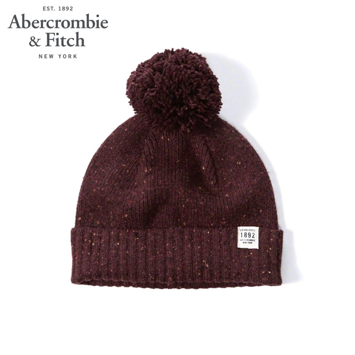 b5187bf0 ABBA black Abercrombie & Fitch regular article men knit cap FOLDOVER  POM BEANIE 116- ...