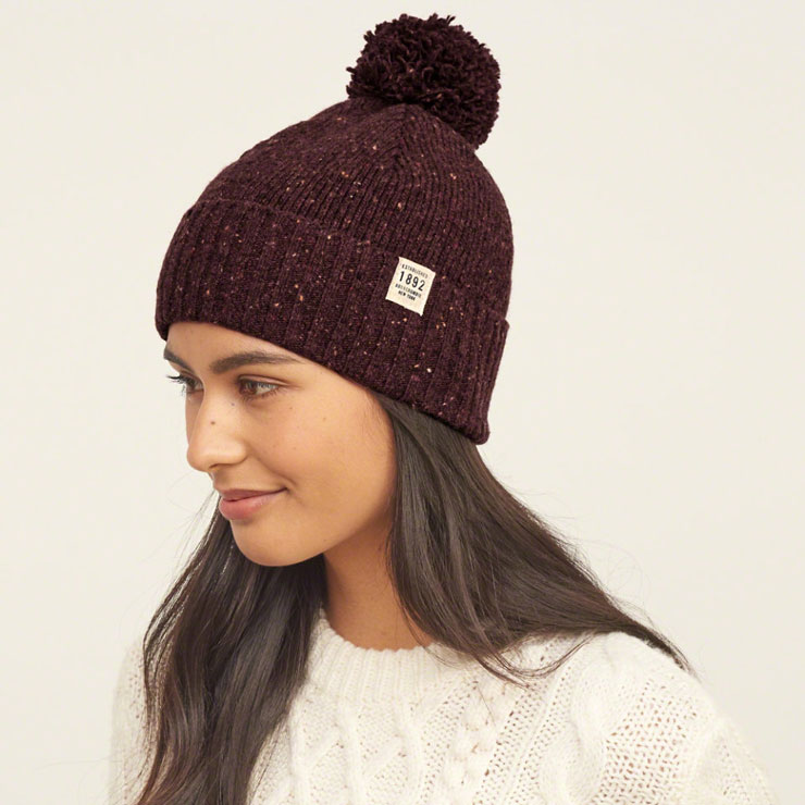 577a53226453 アバクロ Abercrombie&Fitch 正規品 メンズ ニットキャップ FOLDOVER POM BEANIE 116-630-0215-