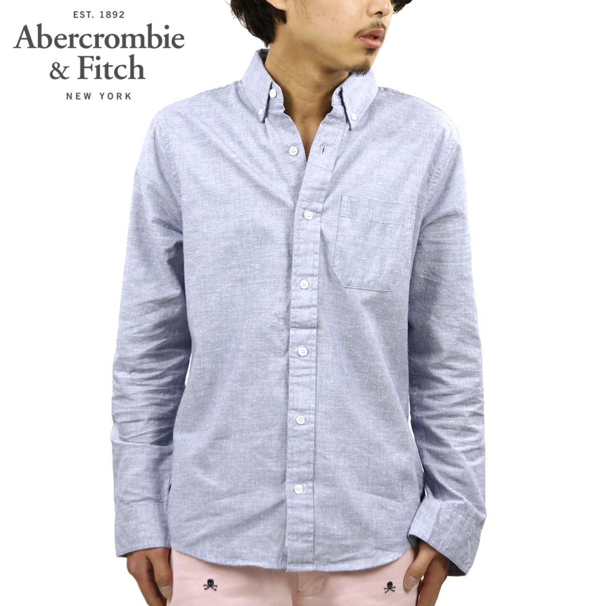 アバクロ シャツ メンズ 正規品 Abercrombie&Fitch 長袖シャツ TEXTURED SHIRT 125-168-2155-222