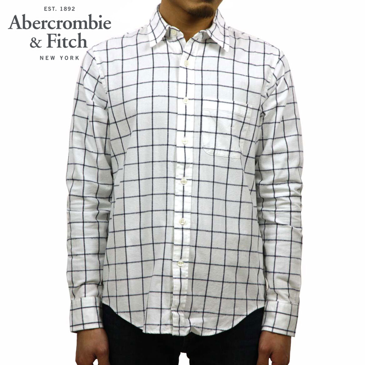 アバクロ Abercrombie&Fitch 正規品 メンズ 長袖シャツ Check Patterned Shirt 125-168-2179-218 D00S20