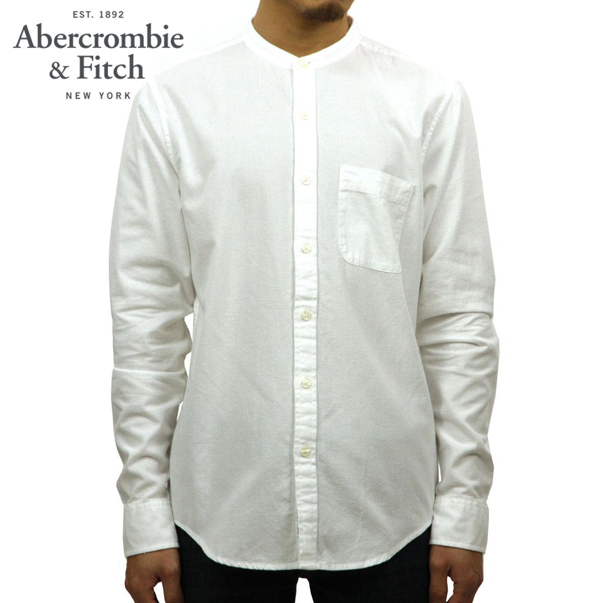 アバクロ Abercrombie&Fitch 正規品 メンズ 長袖シャツ Band Collar Nep Shirt 125-168-2223-100 D00S20