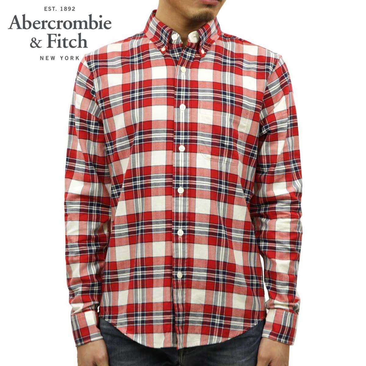 アバクロ Abercrombie&Fitch 正規品 メンズ 長袖シャツ Plaid Herringbone Button-Up Shirt 125-168-2374-509 D00S20