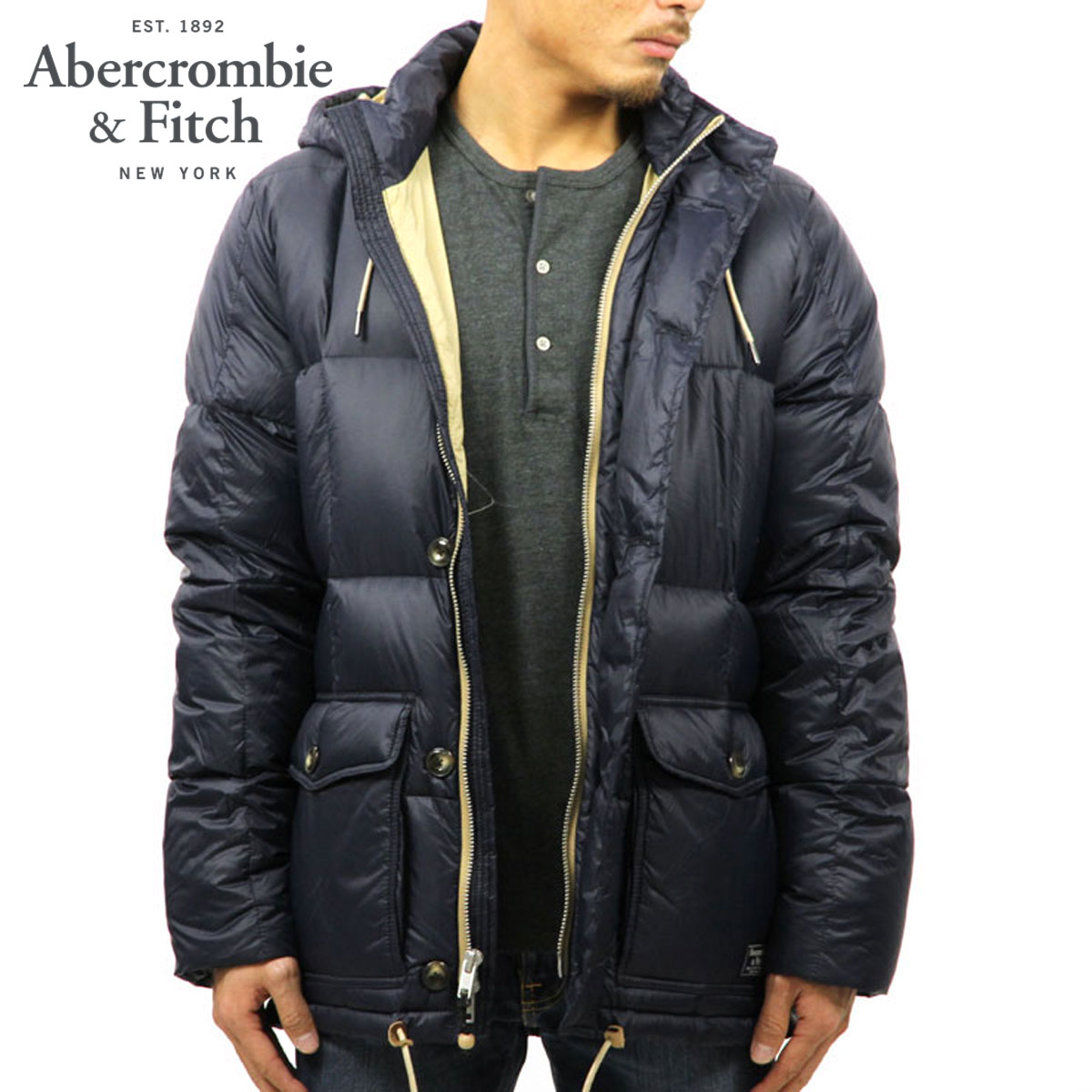 b7b64c17a ABBA black outer men's regular article Abercrombie & Fitch jacket jacket  DOWN PUFFER JACKET 132-328-1034-200 D00S20