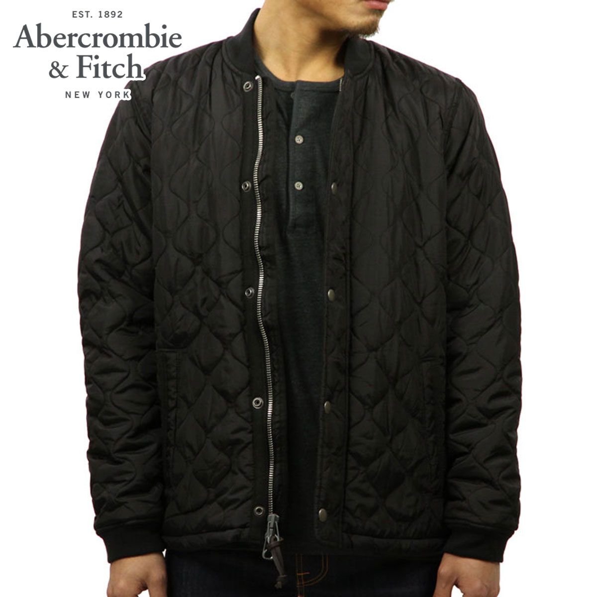 15%OFFセール 【販売期間 12/4 20:00~12/11 1:59】 アバクロ Abercrombie&Fitch 正規品 メンズ アウタージャケット SHERPA QUILTED BOMBER 132-328-1008-900 D00S20