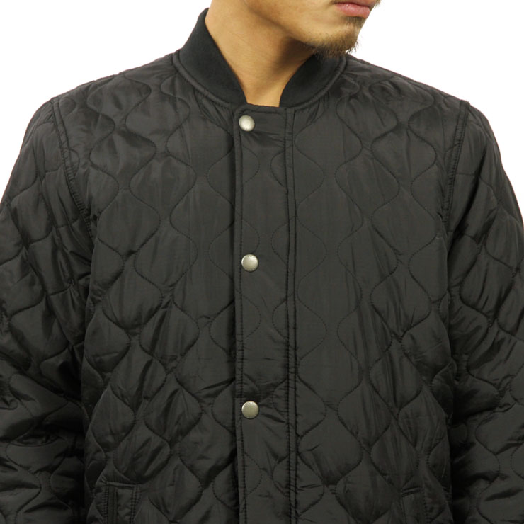 ABBA black Abercrombie & Fitch regular article men outer jacket SHERPA QUILTED BOMBER 132-328-1008-900