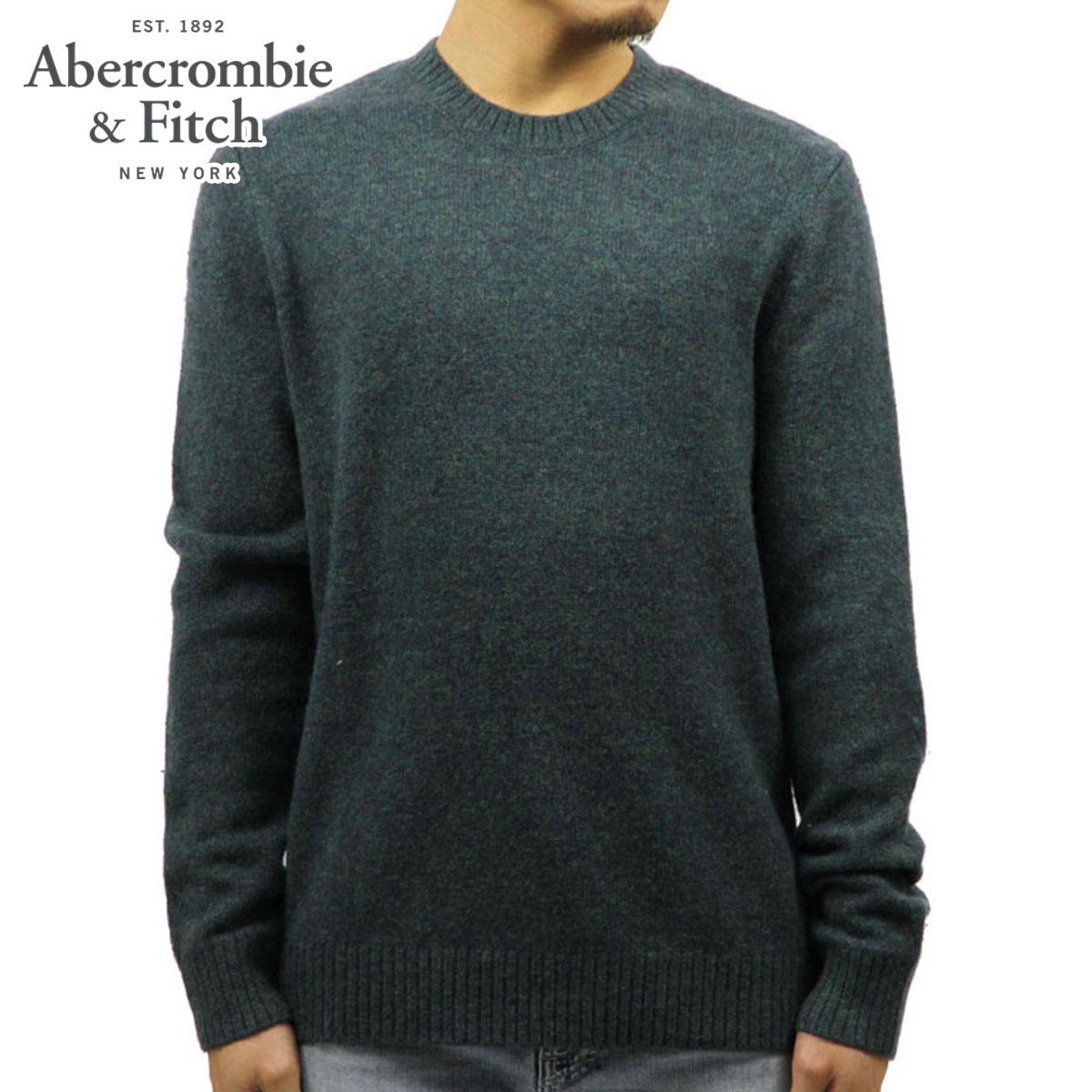 アバクロ セーター メンズ 正規品 Abercrombie&Fitch WOOL CREW SWEATER 120-201-1048-300