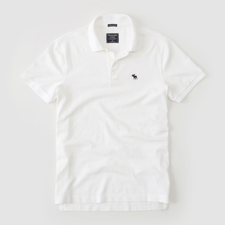 e159df30 ... ABBA black Abercrombie & Fitch regular article men short sleeves polo  shirt STRETCH ICON POLO ...