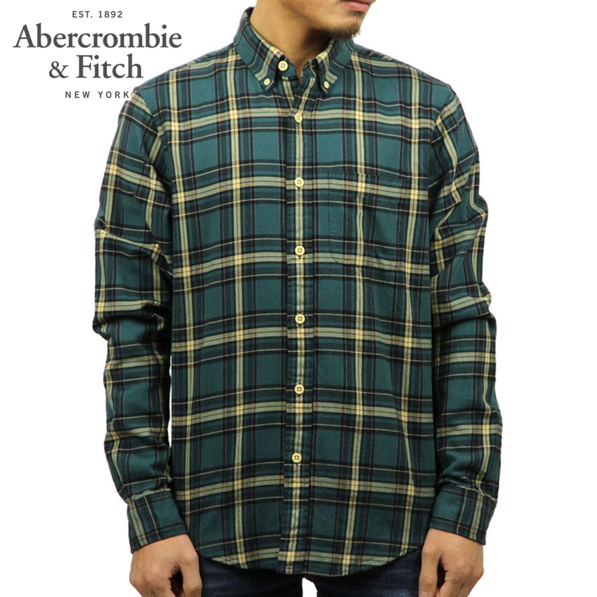 アバクロ Abercrombie&Fitch 正規品 メンズ 長袖シャツ WASHED FLANNEL SHIRT 125-168-2615-308 D00S20