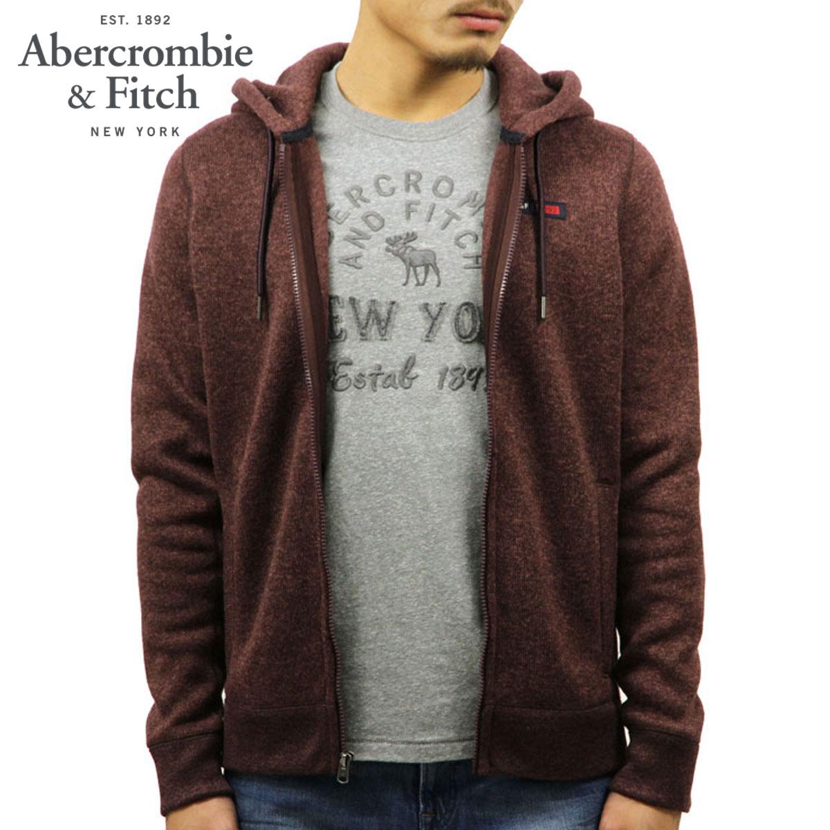 アバクロ Abercrombie&Fitch 正規品 メンズ ジップアップパーカー SWEATER FLEECE FULL-ZIP HOODIE 122-232-0744-420