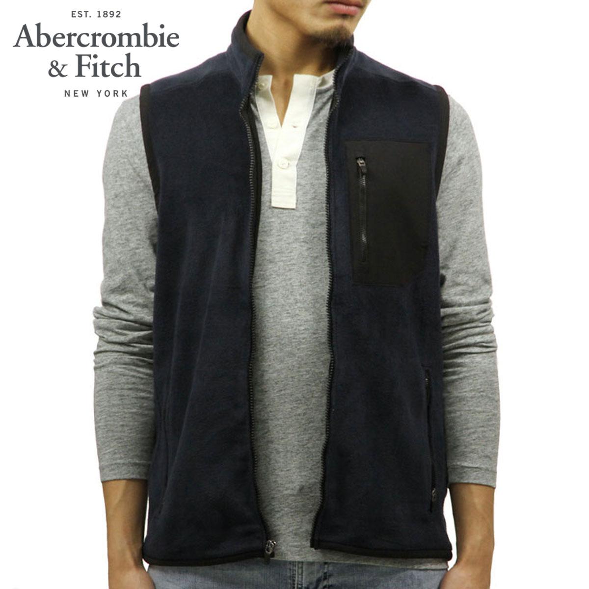 アバクロ Abercrombie&Fitch 正規品 メンズ フリースベスト FLEECE VEST 122-232-0755-220