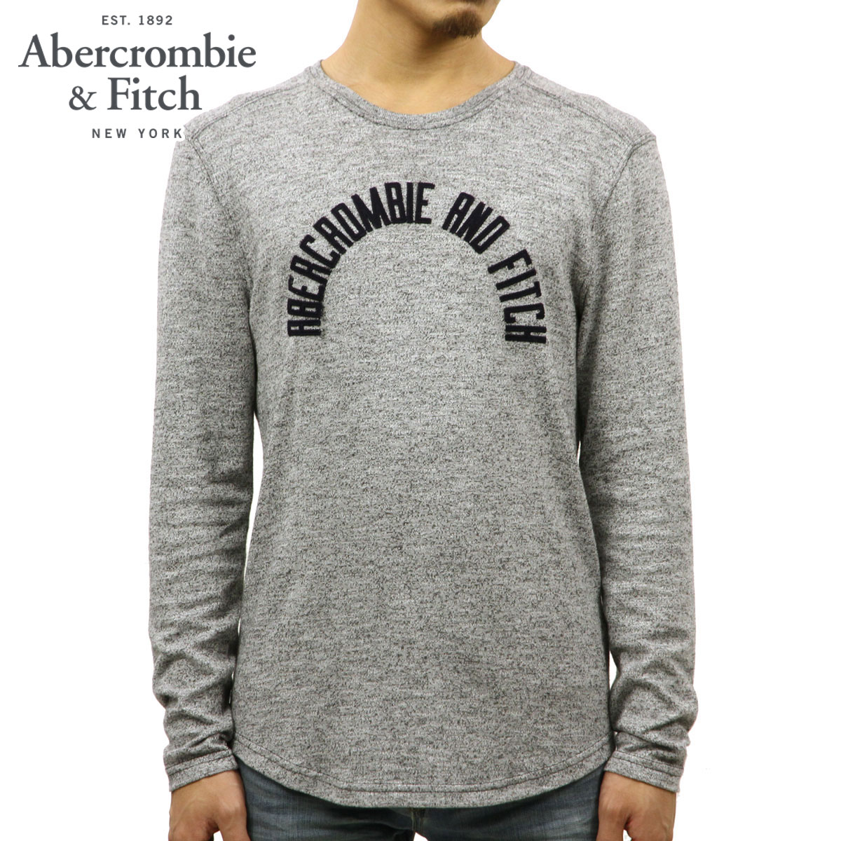 ba9df227 Rakuten Ichiba shop MIXON: ABBA black Abercrombie & Fitch regular  article men long sleeves T-shirt LONG SLEEVE GRAPHIC TEE 123-238-2174-112 |  Rakuten ...