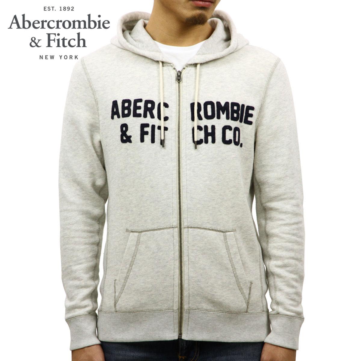 アバクロ Abercrombie&Fitch 正規品 メンズ ジップアップパーカー GRAPHIC FULL-ZIP HOODIE 122-232-0772-112