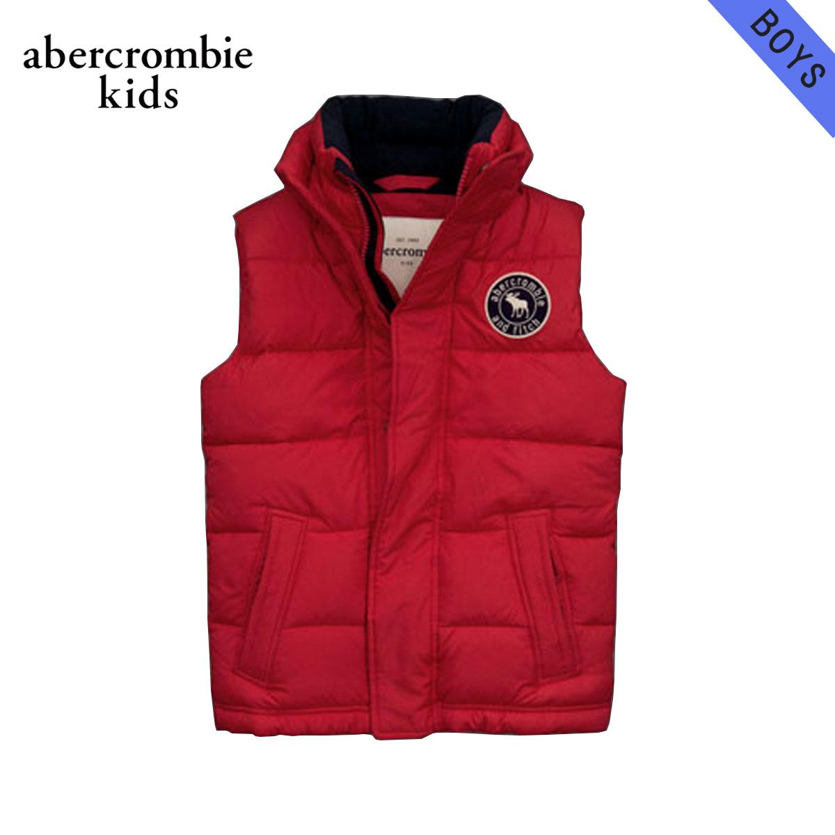 【販売期間 11/28 15:00~12/11 09:59】 アバクロキッズ AbercrombieKids 正規品 子供服 ボーイズ ベスト puffer vest RED D20S30