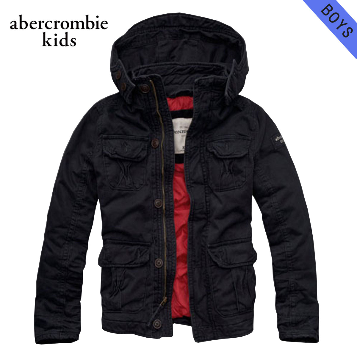 c2eff02662a21 ABBA black kids AbercrombieKids regular article children's clothes Boys  jacket a&f all-season ...