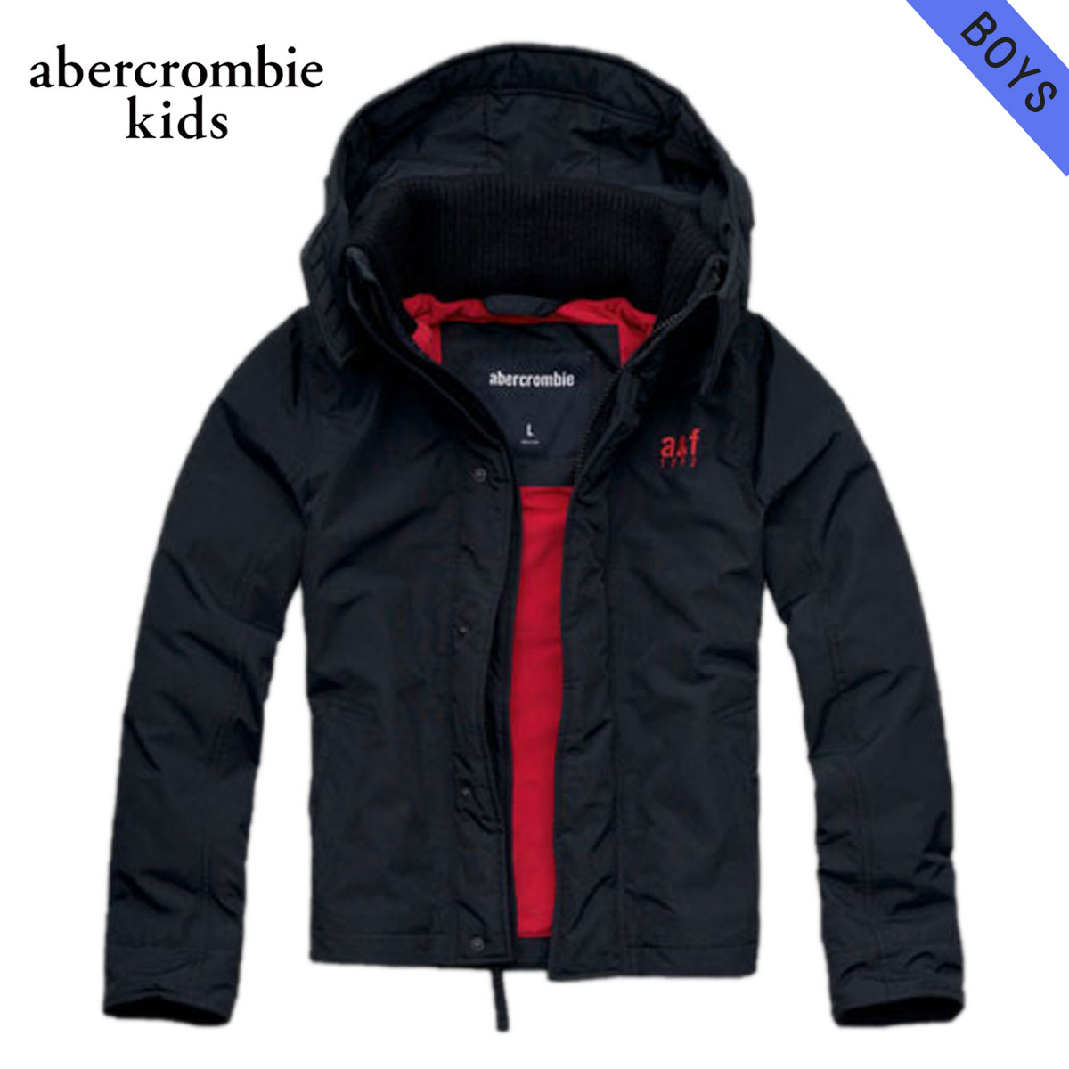 35%OFFセール 【販売期間 12/4 20:00~12/11 1:59】 アバクロキッズ AbercrombieKids 正規品 子供服 ボーイズ ジャケット a&f all-season weather warrior 232-722-0107-023 NAVY D30S40