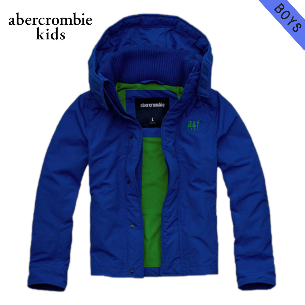 35%OFFセール 【販売期間 12/4 20:00~12/11 1:59】 アバクロキッズ AbercrombieKids 正規品 子供服 ボーイズ ジャケット a&f all-season weather warrior BLUE D30S40