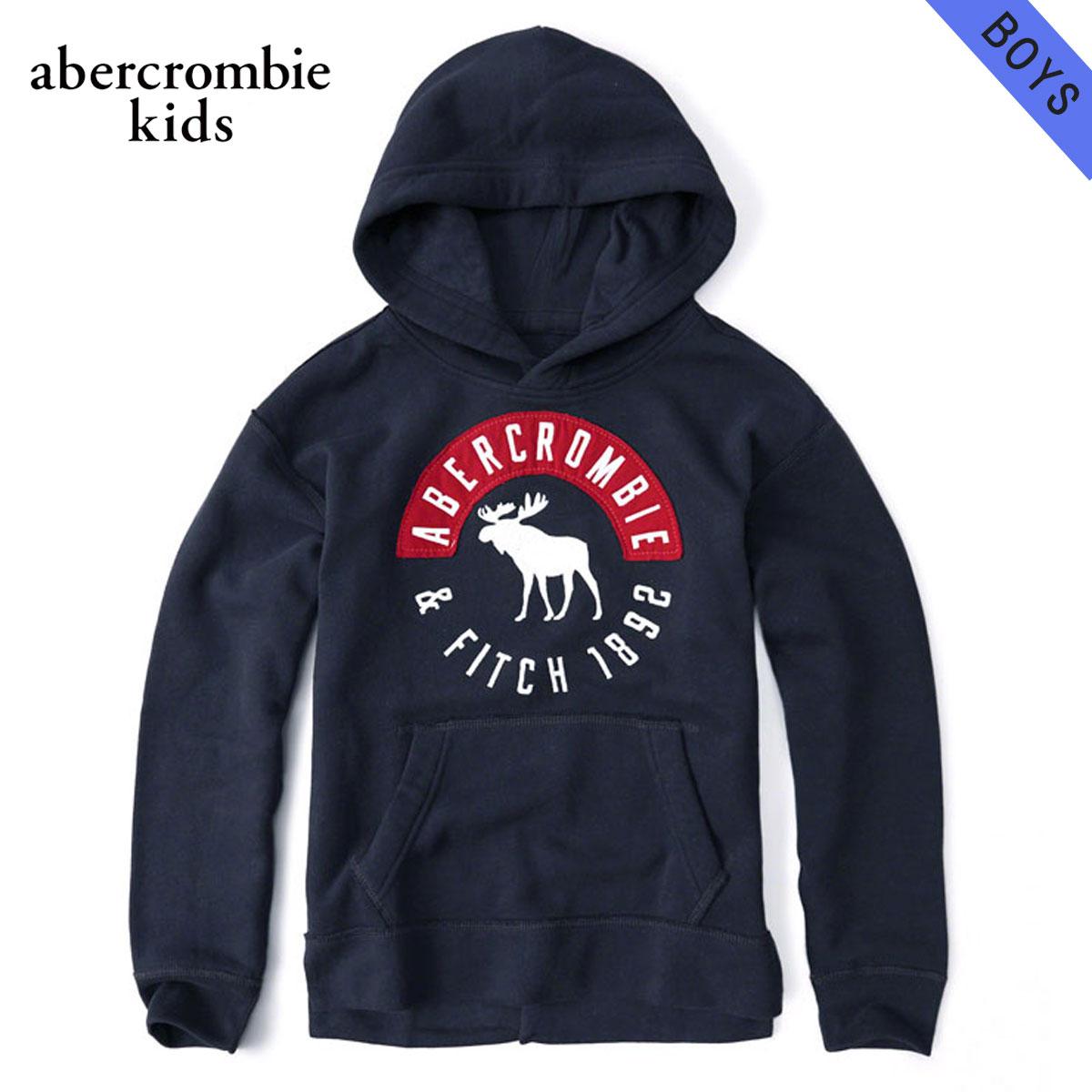 【ポイント10倍 1/1 00:00~1/5 23:59まで】 アバクロキッズ パーカー ボーイズ 子供服 正規品 AbercrombieKids logo pullover hoodie 222-628-0015-023