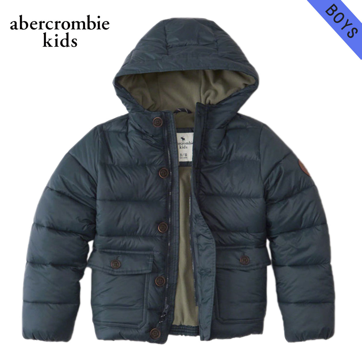 15%OFFセール 【販売期間 12/4 20:00~12/11 1:59】 アバクロキッズ AbercrombieKids 正規品 子供服 ボーイズ アウタージャケット hooded puffer jacket 232-716-0203-023 D00S20
