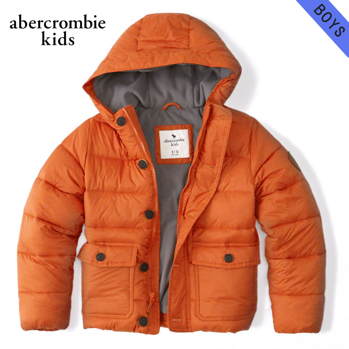 15%OFFセール 【販売期間 12/4 20:00~12/11 1:59】 アバクロキッズ AbercrombieKids 正規品 子供服 ボーイズ アウタージャケット hooded puffer jacket 232-716-0203-070 D00S20