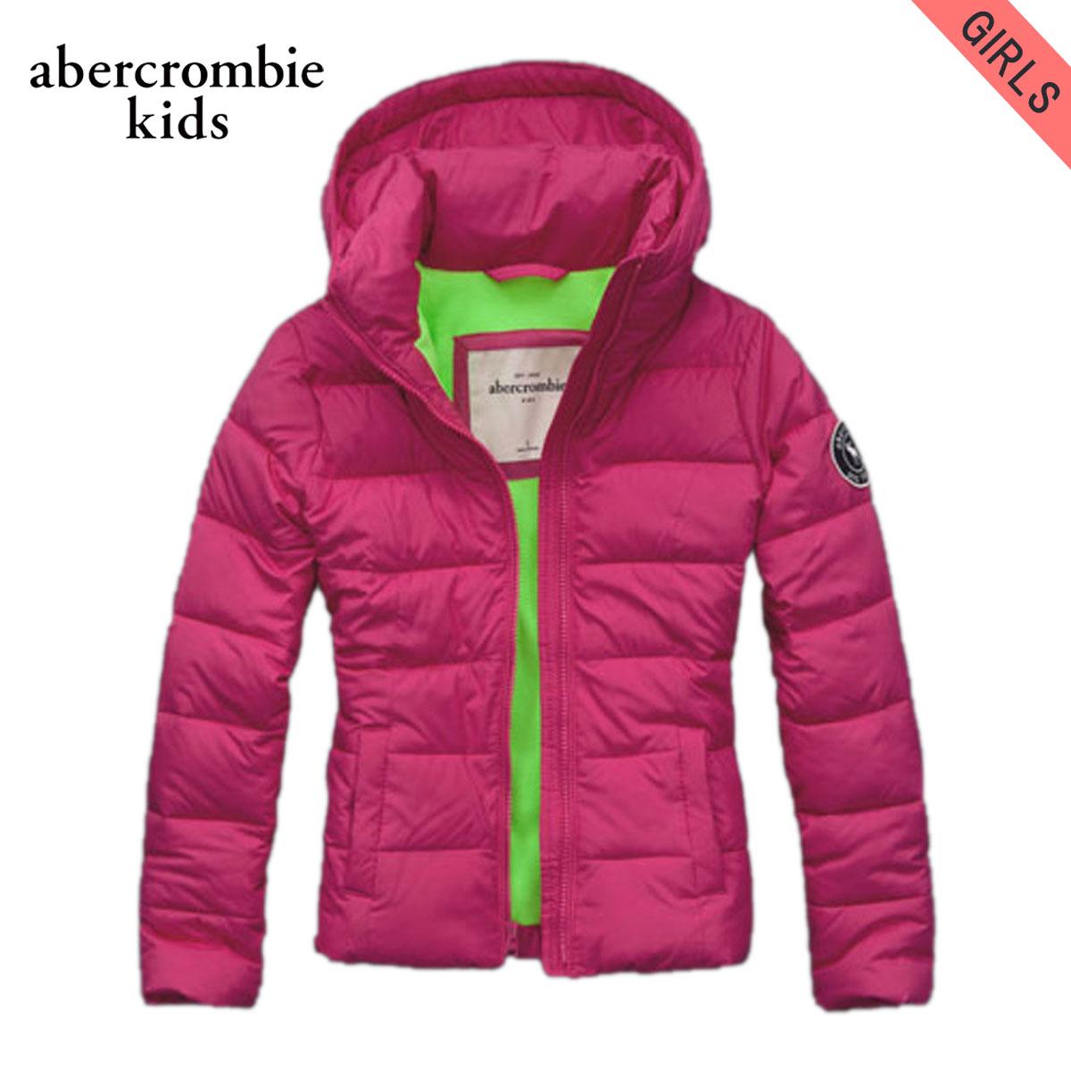 【販売期間 11/28 15:00~12/11 09:59】 アバクロキッズ AbercrombieKids 正規品 子供服 ガールズ ジャケット puffer jacket HOT PINK D20S30