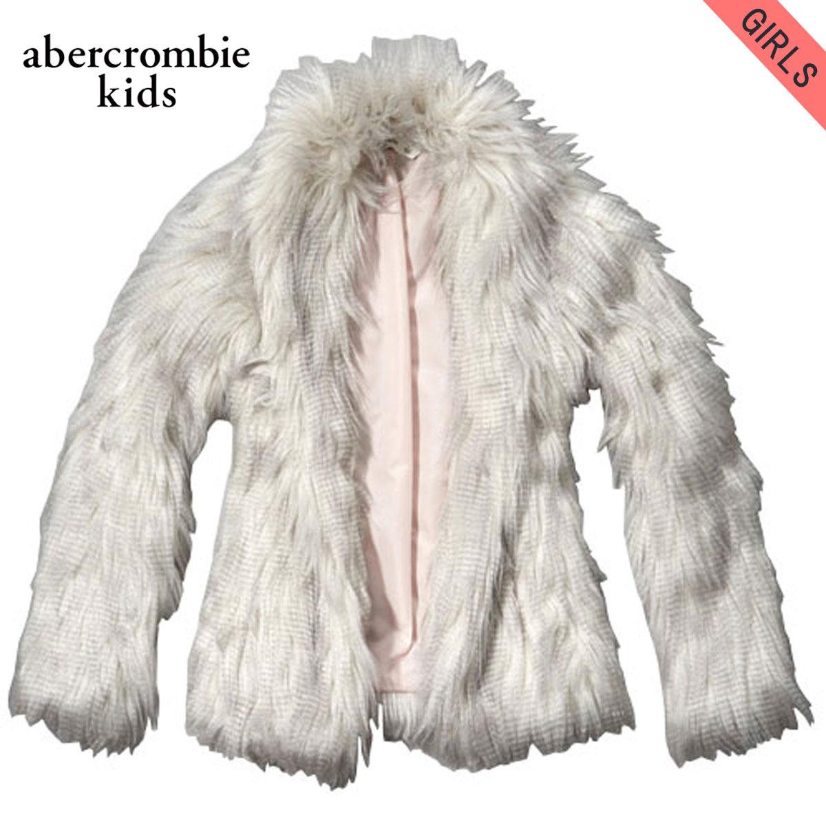4cb94f186 ABBA black kids AbercrombieKids regular article children's clothes girls  outer jacket fluffy faux fur jacket 244 ...